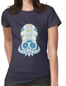Omanyte Popmuerto   Pokemon & Day of The Dead Mashup Womens Fitted T-Shirt