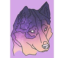 Galaxy Wolf Art Photographic Print