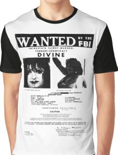 Divine: Wanted By The FBI Graphic T-Shirt