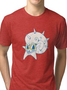 Omastar Popmuerto | Pokemon & Day of The Dead Mashup Tri-blend T-Shirt