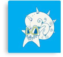 Omastar Popmuerto | Pokemon & Day of The Dead Mashup Canvas Print