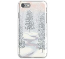 Snowy Day Winter Scene Merry Christmas iPhone Case/Skin