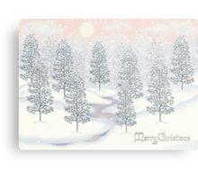 Snowy Day Winter Scene Merry Christmas Metal Print