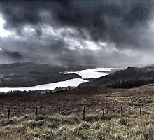 Looking over Loch Garry near Invergarry, Scotland by Richard Flint