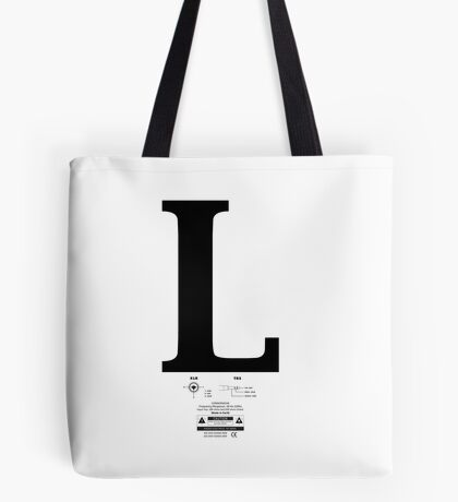 Left & Right Series `L´ Tote Bag