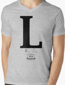 Left & Right Series `L´ Mens V-Neck T-Shirt