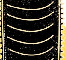 black caterpillar Sticker