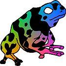 toxic rainbow frog by HiddenStash