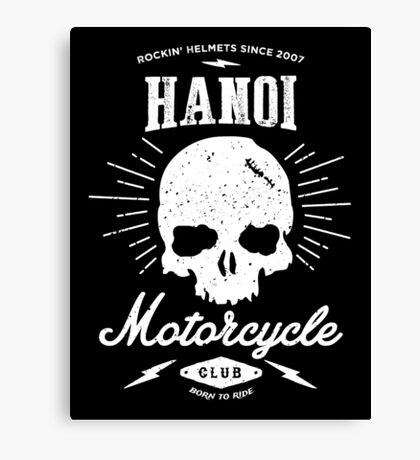 Hanoi Motorcycle Club | Black Canvas Print