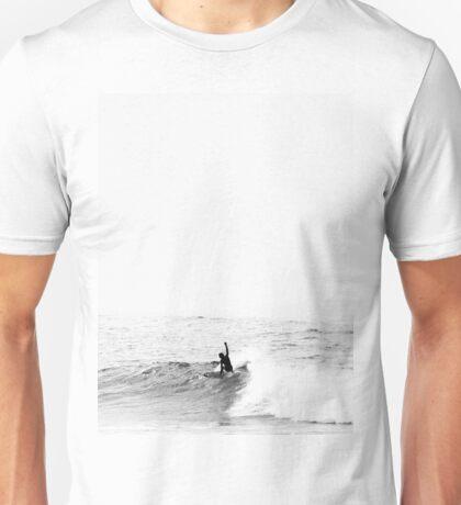 Surfer on Wave in Open Ocean Unisex T-Shirt