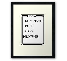 What was your rival's name again..? Framed Print