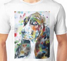 BASSET HOUND - watercolor portrait.2 Unisex T-Shirt