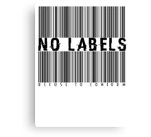 No Labels Canvas Print