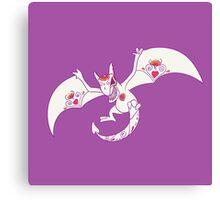 Aerodactyl Popmuerto | Pokemon & Day of The Dead Mashup Canvas Print