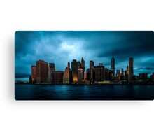 Manhattan At Dawn Canvas Print