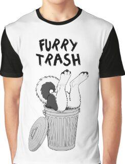 Furry Trash - Black Husky/Malamute Graphic T-Shirt