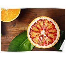 Blood orange fruit close up  Poster