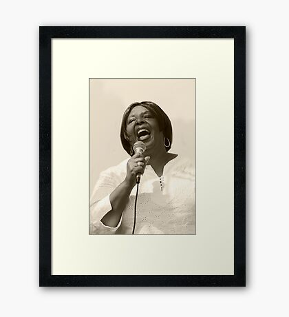 Singing With Heart & Soul Framed Print