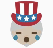 """Uncle """"The Emoji"""" Sam Teary Eyes and Sad Look Kids Tee"""