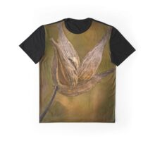 Horicon Marsh - Seed Pod in Golden Tones Graphic T-Shirt
