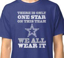 Dallas-Cowboys One Star Shirt Couple Football T-Shirts Classic T-Shirt