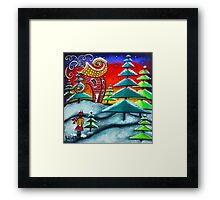 The Snowball Fight Framed Print