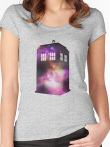 Space Tardis Women's Fitted Scoop T-Shirt