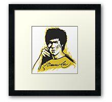Bruce Lee The Master Framed Print