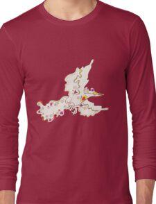 Moltres Popmuerto | Pokemon & Day of The Dead Mashup Long Sleeve T-Shirt
