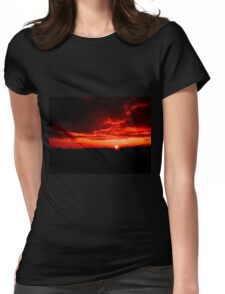 Cloudy sunset Womens Fitted T-Shirt