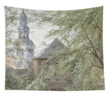 Mulln Monastery in Augustiner Braustubl (Salzburg) by Edward Theodore Compton Wall Tapestry