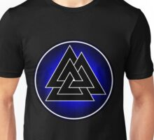 Norse Valknut - Blue and Black Unisex T-Shirt