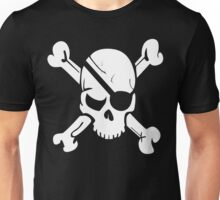 Pirate Skull and Crossbones With Eye Patch T Shirt Unisex T-Shirt