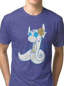 Dratini Popmuerto | Pokemon & Day of The Dead Mashup Tri-blend T-Shirt