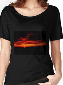 Sunset and stormy clouds Women's Relaxed Fit T-Shirt