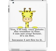Annoyed Giraffe iPad Case/Skin