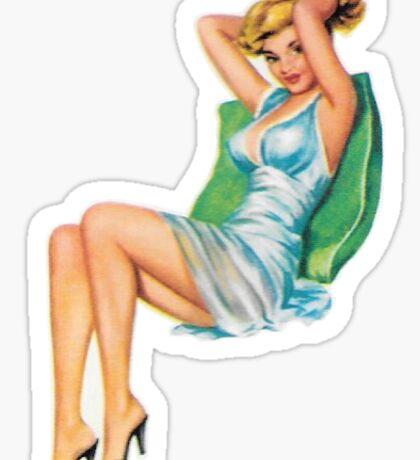 Retro Pin Up Girl #2 Sticker