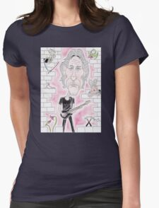 Rock Wall Caricature Womens Fitted T-Shirt