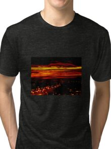 Sunset over the city Tri-blend T-Shirt