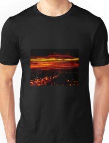 Sunset over the city Unisex T-Shirt