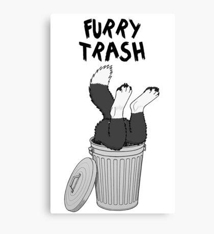 Furry Trash - Border Collie Canvas Print
