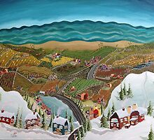 Original Painting The Grey Highlands, Canada! by Lisa Rotenberg