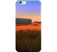 Burning fields of summer | landscape photography iPhone Case/Skin