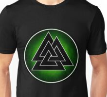 Norse Valknut - Green and Black Unisex T-Shirt