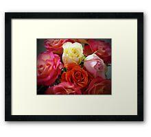 ROSES in COLOR Framed Print