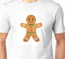 Gingerbread Boy with Green Bow Tie  Unisex T-Shirt