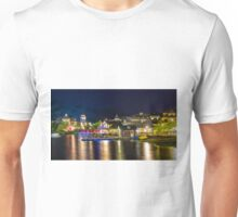 Blue Mountain Village at night Unisex T-Shirt