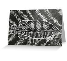 Cosmic Fish Dreaming Greeting Card