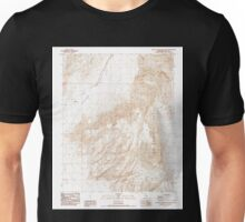 USGS TOPO Map California CA West of Teakettle Junction 102448 1987 24000 geo Unisex T-Shirt