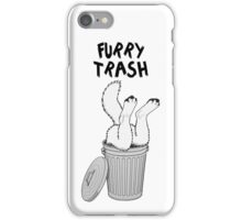 Furry Trash - White/Arctic Wolf iPhone Case/Skin